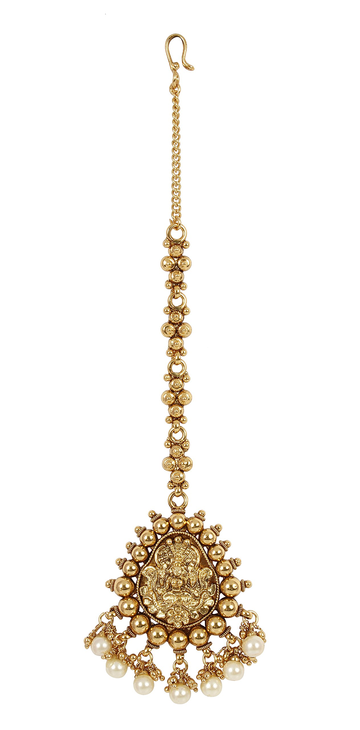 MUCH-MORE Indian Fabulous Style Partywear Maang Tikka Forehead Traditional Jewelry (2326)