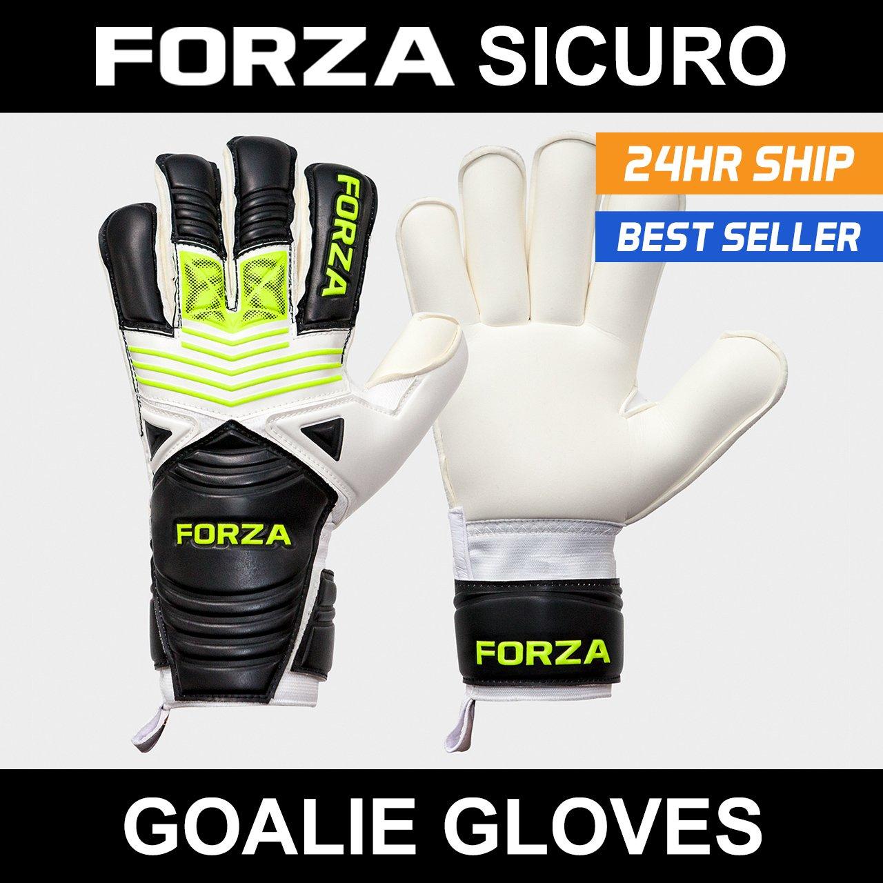 Forza Sicuroゴールキーパーグローブサッカー手袋 – スーパーのクラブレベルshot-stoppers。さまざまなサイズAvailable [ Net世界スポーツ] B0784XNGLV Size 9 (Medium Adult)