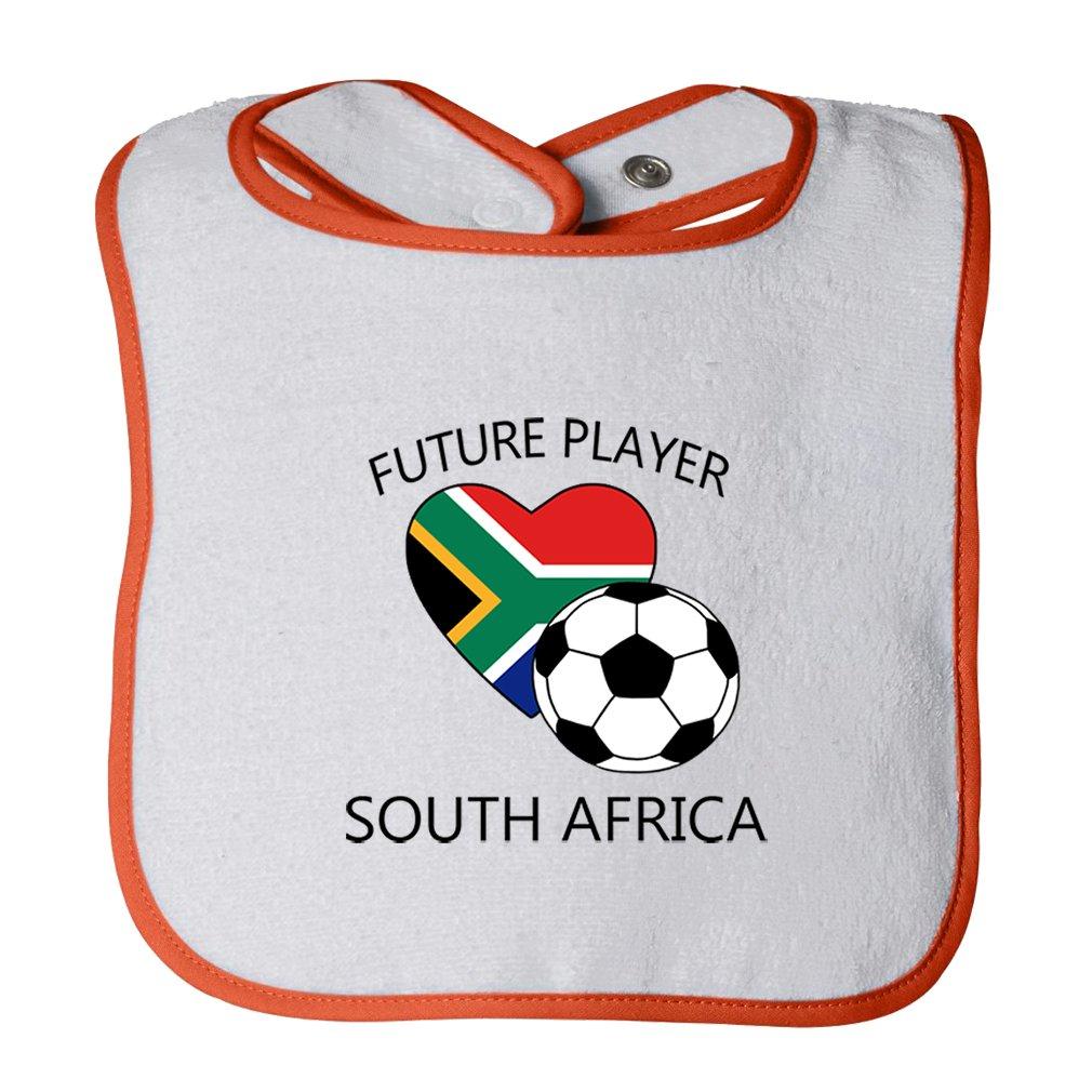 Cute Rascals Future Soccer Player South Africa Tot Contrast Trim Terry Bib BIBTFPSOCHRT163_W