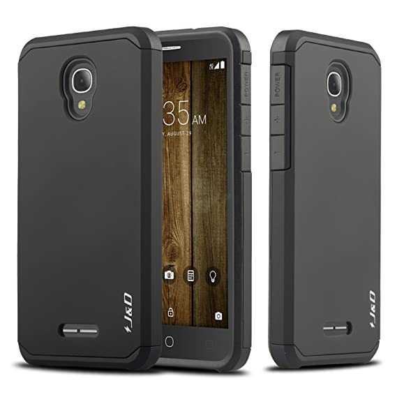timeless design 771ad 72198 Alcatel Fierce 4 Case, J&D [ArmorBox] [Dual Layer] Hybrid Shock Proof  Protective Rugged Case for Alcatel Fierce 4 - Black