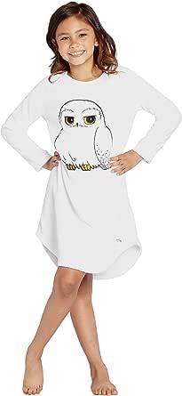 Harry Potter Pajama niñas Lechuza Hedwig Micro Encajes Raschel Hi-Lo de Lana Traje de Noche