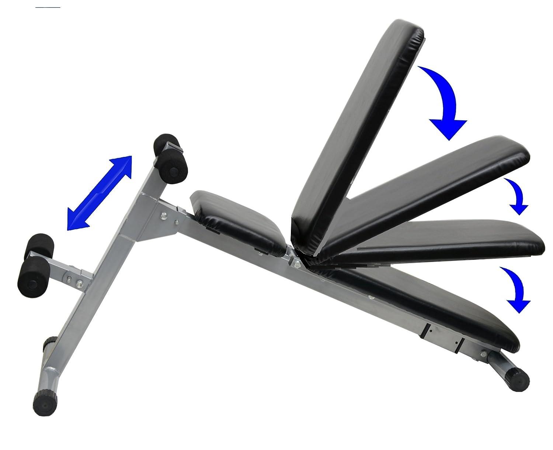 Entrenamiento con pesas banco de pesas Multi ajustable & plegable banco de pesas: Amazon.es: Deportes y aire libre