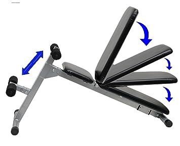 Entrenamiento con pesas banco de pesas Multi ajustable & plegable banco de pesas
