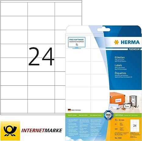 70 x 36 mm HERMA Universal Etichette Recycling