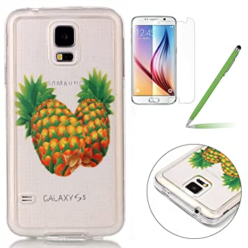 Felfy Samsung Galaxy S5 Funda, Samsung Galaxy S5 Neo Case, Moda Carcasa Samsung Galaxy S5/S5 Neo Ultrafina Funda TPU Silicona Suave Gel Transparente ...