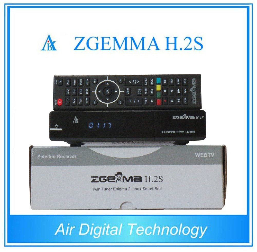 Zgemma H 2S Dual Core Twin Tuner Satellite Receiver with EPG and IPTV