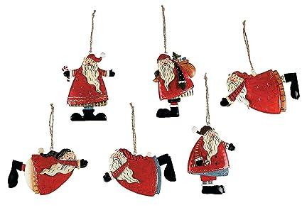santa christmas ornaments 12 pack 4