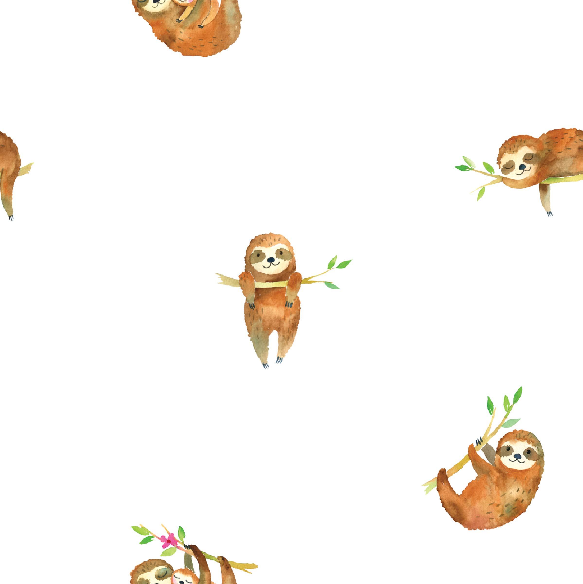lulujo Baby Cotton Muslin Swaddling Blanket, Sloth
