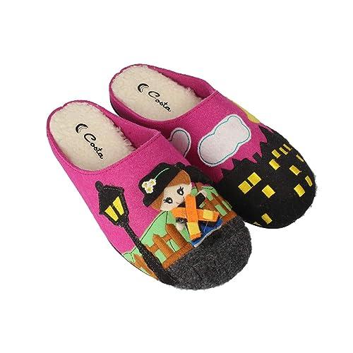 Costa H592-80, Zapatillas de Estar por Casa con Talón Abierto para Mujer: Amazon.es: Zapatos y complementos