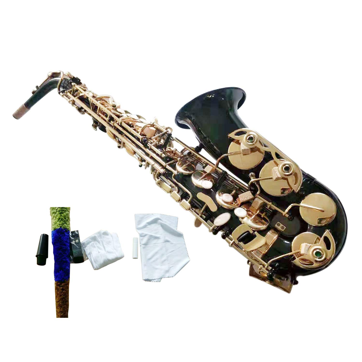 Flanger F-980 Black Nickel Plated Keys E Flat Professional Alto Saxophone with Tuner, Case, Mouthpiece by Flanger (Image #2)