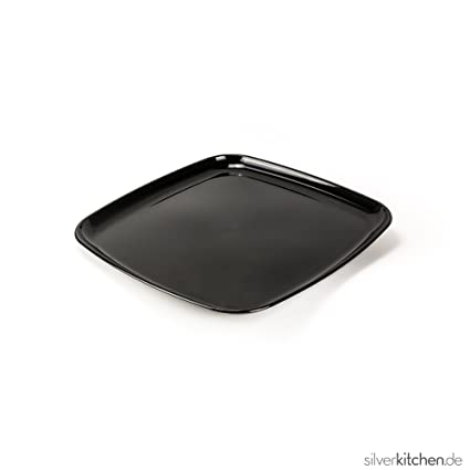 Bandeja de servir, de alta Class de plástico, desechables – Negro, 40 x