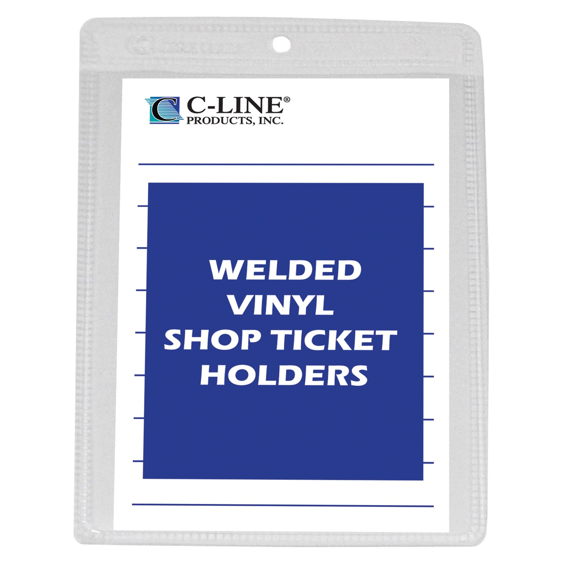 C-Line Vinyl Shop Ticket Holders, Both Sides Clear, 4 x 6 Inches, 50 per Box (80046) by C-Line