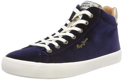 Pepe Jeans Stark Sequins, Zapatillas Altas para Mujer: Amazon.es: Zapatos y complementos