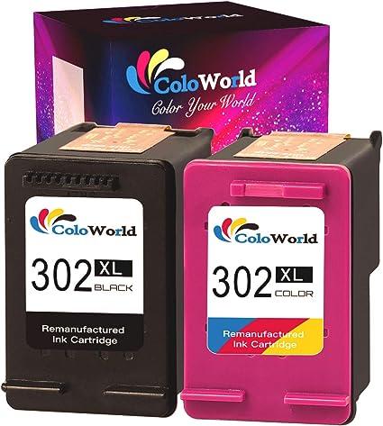 ColoWorld 302XL - Cartuchos de Tinta de Repuesto para Impresora HP ...