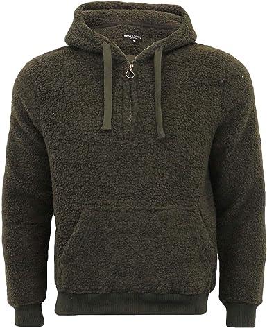 Brave Soul Mens Hoodie Zip Up Branded Plain Lightweight Sweatshirt Hooded Top