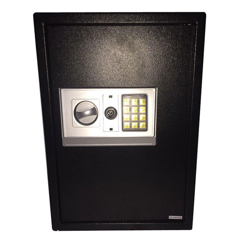 e50eaホームビジネスセキュリティキーパッドロック電子デジタルスチールSafeブラックボックス&シルバーグレー B07FYF3PGM