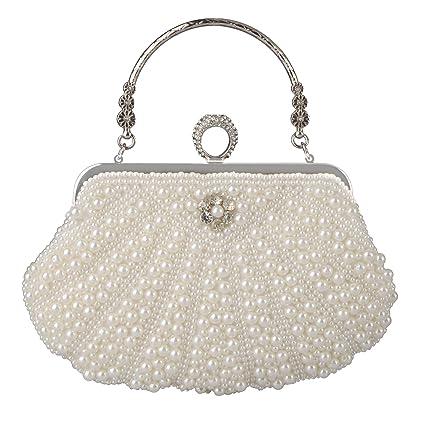 2ff8fe6f62 Buy Baglamor Women's Evening Bag Pearl Crystal Bag Shell Handbag fit ...