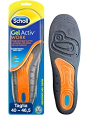 Scholl Gel Activ Work Solette da Lavoro per Uomo, 40-46.5 EU, 1 Paio