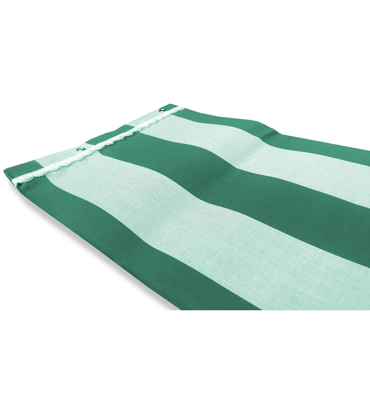 Cortina sol de exterior jard/ín balc/ón en raya o igual verde conjunto
