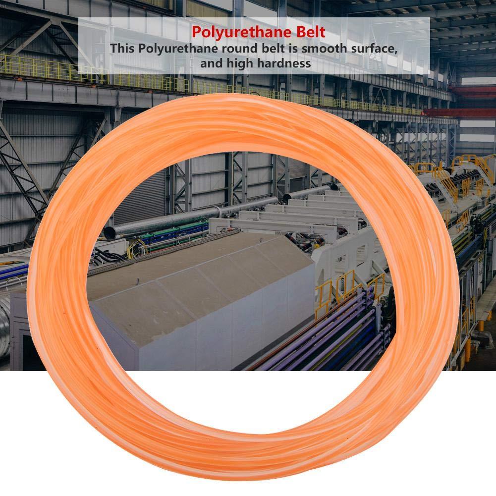 Cinghia rotonda in uretano ad alte prestazioni cinghia di trasmissione in PU Cintura rotonda in poliuretano per trasmissione trasmissione arancione3M//5M//10M 2mm*10m