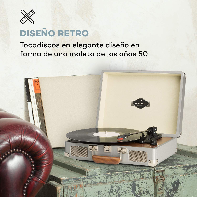 AUNA Peggy Sue Gold Edition - Tocadiscos, Reproduce 3 ...