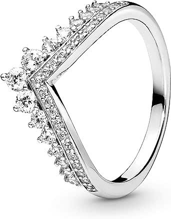 خاتم برينسيس ويش زركونيا مكعب من الفضة الإسترليني من مجوهرات باندورا