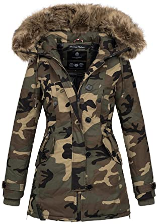 cb667951db16 Navahoo Damen Designer Winter Jacke warme Winterjacke Parka Mantel B638   Amazon.de  Bekleidung
