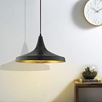 Buy Homesake Black Metal Modern Hanging Light E26 27 Nordic Pendant Lamp Danish Shaped Kitchen Bedroom Living Room Ceiling Lamp Online At Low Prices In India Amazon In