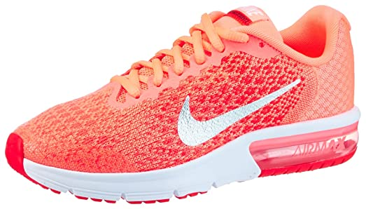 amazon com nike kid s air max sequent 2 gs lava glow metallic