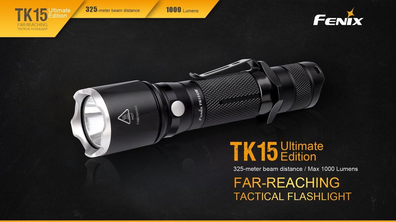 Fenix TK15UE Ultimate Edition 1000 Lumen LED Tactical Flashlight w// 2x CR123As