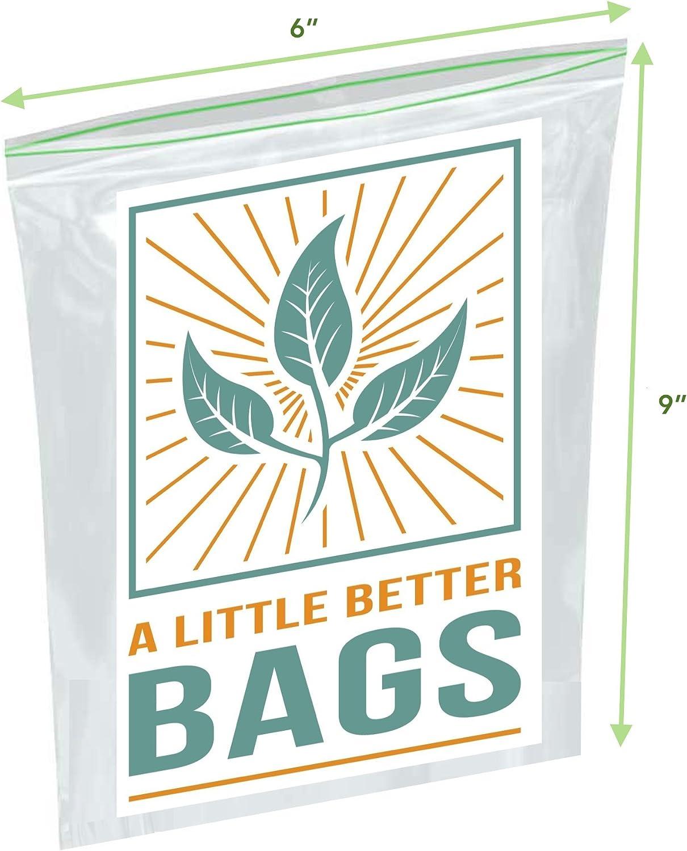 Biodegradable Sandwich Bags (XL 100 Count Quart Bags)