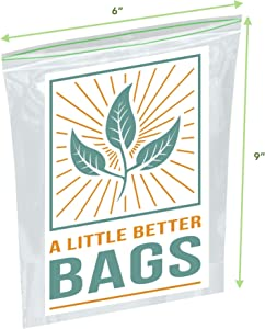 Biodegradable Sandwich Bags (XL 100 Count Quart Bags)