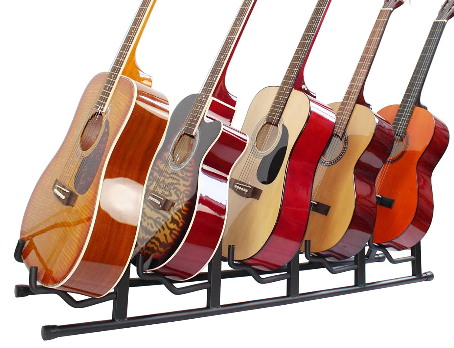 YMC Universal Folding Triple Guitar Stand with Secure Lock for Acoustic and Electric Guitar