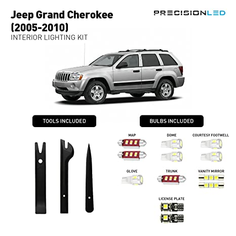 precisionled Premium LED iluminación interior paquete para Jeep Grand Cherokee