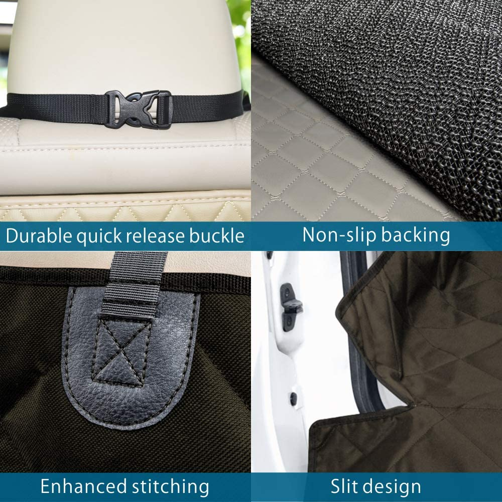 Large Waterproof Dog SUV Cover with Bumper Flap Protector Ace Teah SUV Pet Cargo Liner