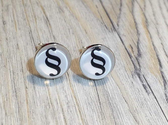 Spruch hier rein da raus 925 Sterling Silber 8mm Ohrringe Ohrstecker
