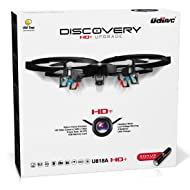 Remote Control Drone with Camera – U818A Discovery HD Camera Drone Long Range Flying Drones for Adults or Kids w/LEDs, Micro SD, Extra Drone Battery