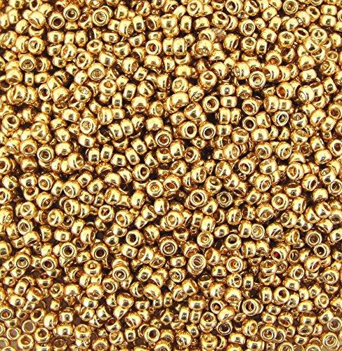 Gold Seed Beads - Miyuki Round Seed Bead Size 8/0 22g-tube Galvanized Gold