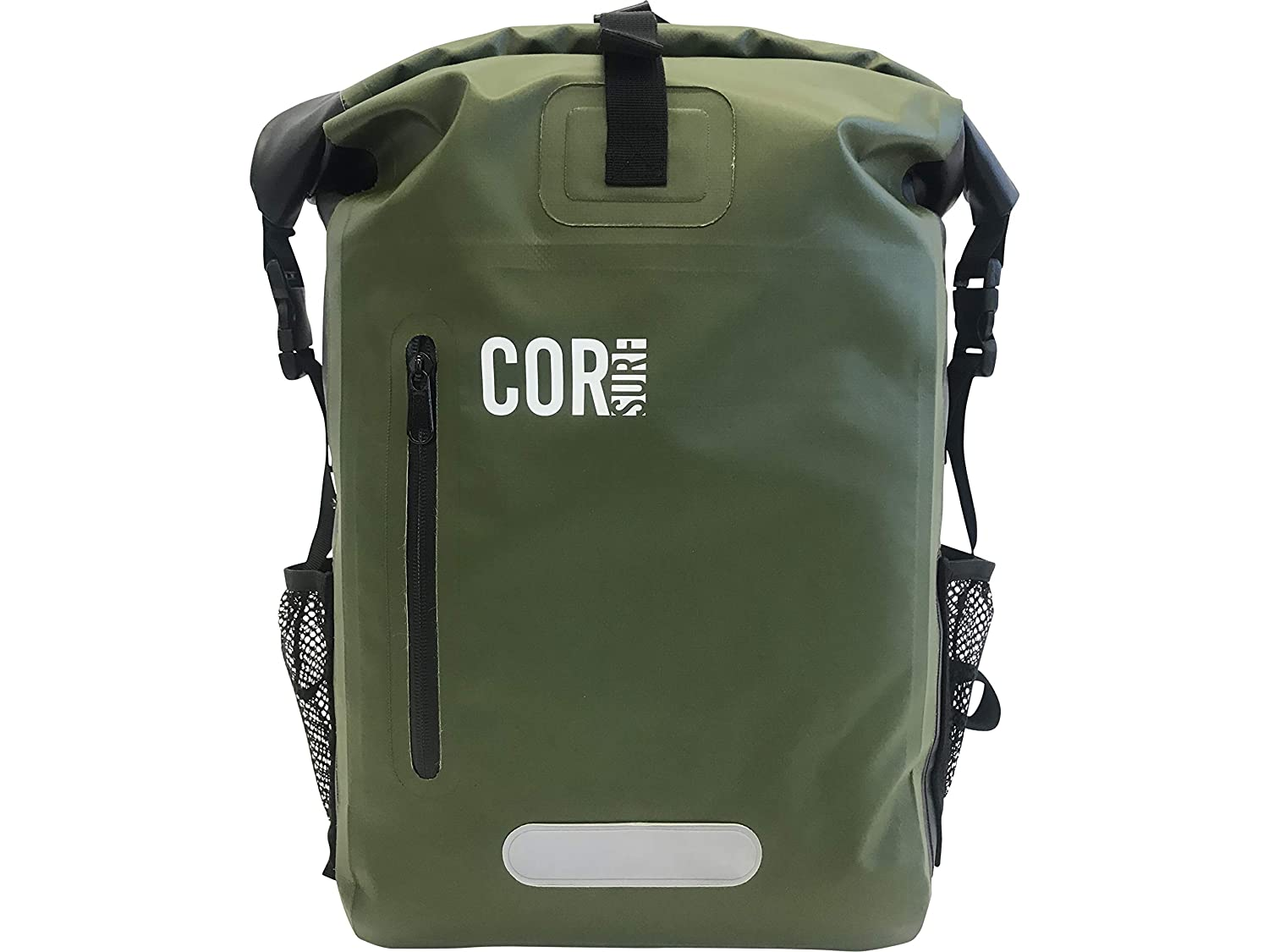 Waterproof Backpack - by Cor Surf   with Padded Laptop Sleeve   25L and 40L   Dry Bag Backpack for Travel, Cycling, Camping, Hiking, Kayak, Rafting or Surf COR Board Racks