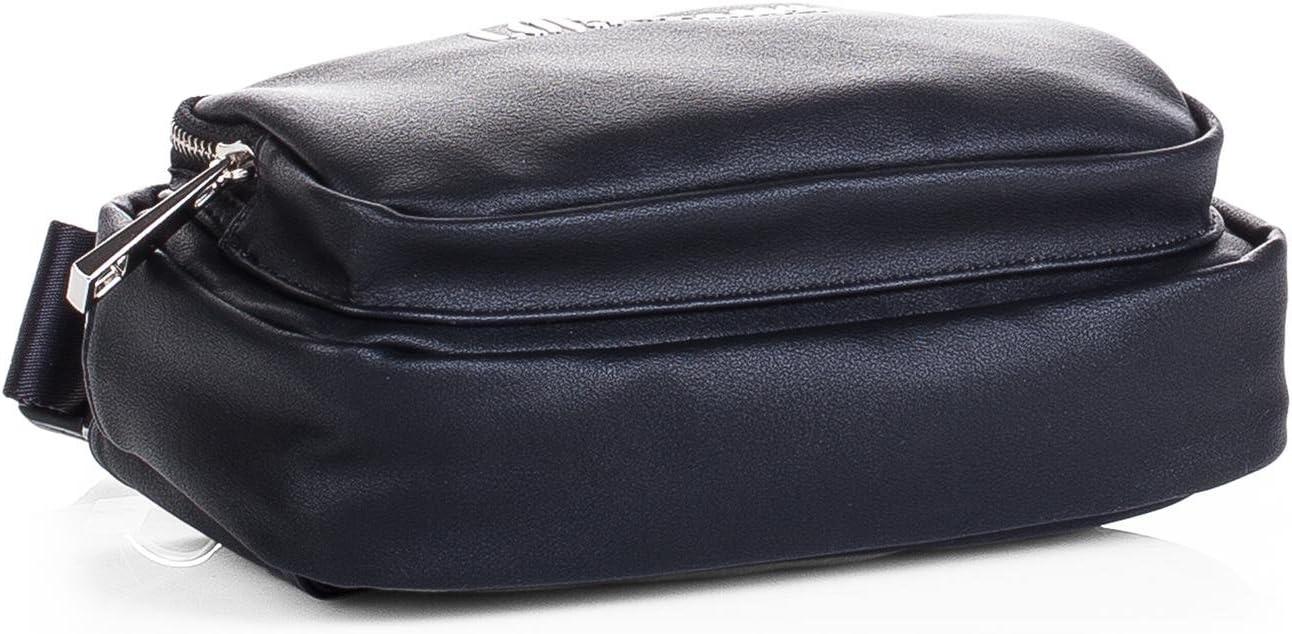 Color Negro Cuero PU Ri/ñonera de Hombre Grande Ajustable a la Cintura C/ómoda Pr/áctica Elegante y de Calidad Compartimentos para M/óvil Billetes Documentaci/ón 95010 Viaje Lois