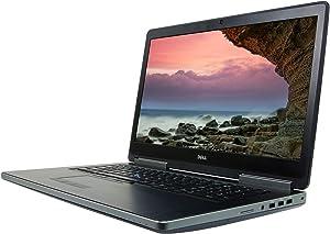 Dell Precision 7710 17.3 inches FHD Laptop, Core i7-6920HQ 2.9GHz, 32GB, 512GB Solid State Drive, Windows 10 Pro 64Bit, CAM, (Renewed)