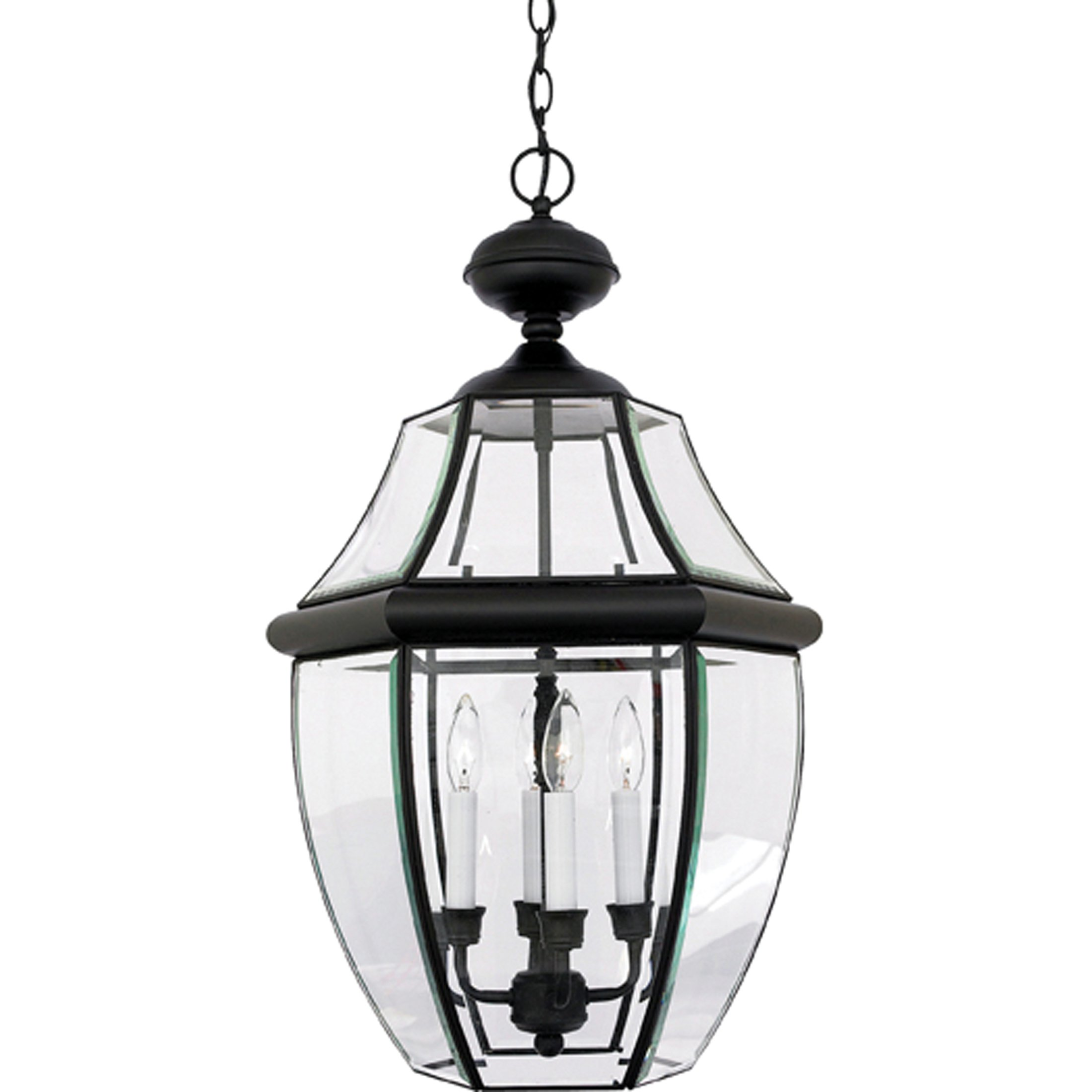 Quoizel NY1180K  Newbury 4-Light Outdoor Lantern, Mystic Black by Quoizel