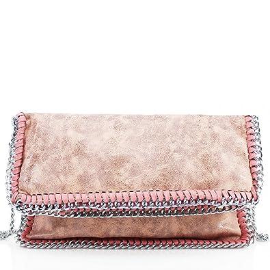 99cf1cd4fe Womens Stella Design Chain Detail Cross Body Bag Ladies Shoulder bag Work  New Pink