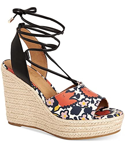 c354e2ca83e Coach Womens Dana Chalk Coral Wedge Sandal (6.5)