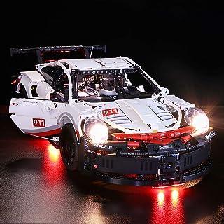 Vonado Lighting Kit for Lego 42096,Porsche 911 RSR Building Block Kit Brick,Compatible MOC Super 20097 Racing Car Toy to Kids Friend Boy and Girl(Only Lights)