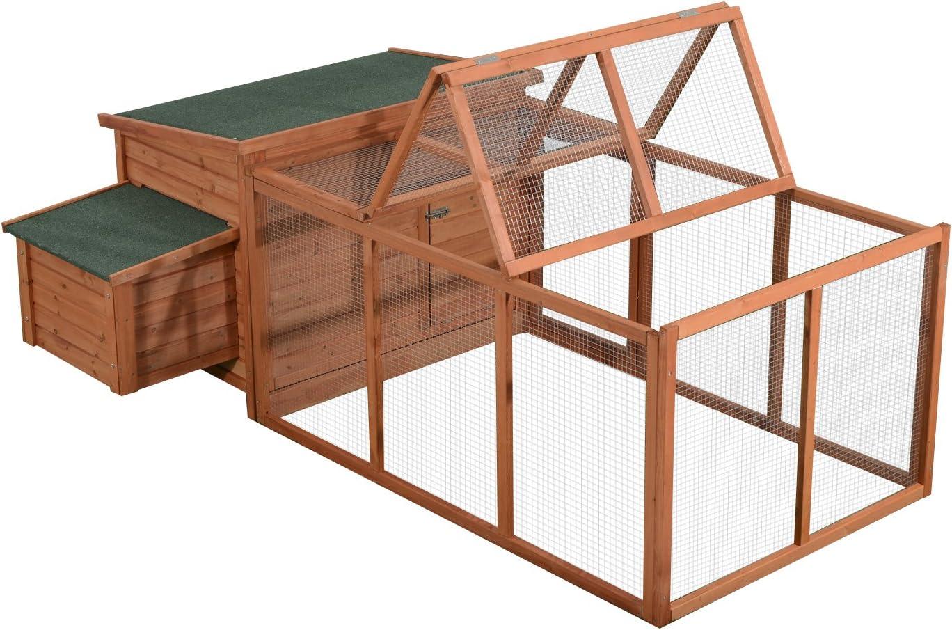 Gallinero jaula de gallinas pondoir perchoir cajón déjection gran Enclos techo solar 2,21l X 1,45l X 81H M madera de pino 01: Amazon.es: Productos para mascotas