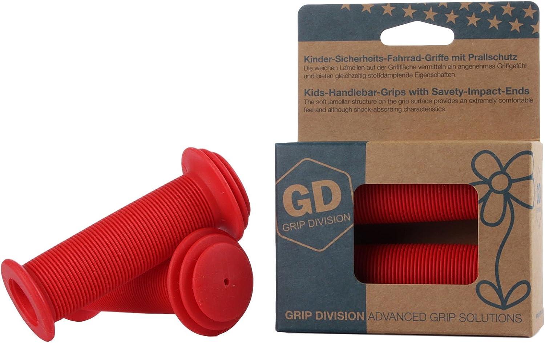 Prallschutz Phthalate frei GD Grip Division/® Kinderfahrradgriffe mit Sicherheits