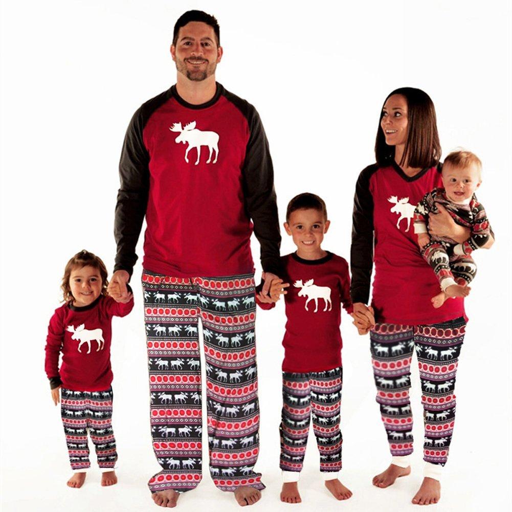 d68f6c53ed4fa Pyjama Ensemble Noel Famille Père Noël Mère Garçon Fille du Nouveau ...