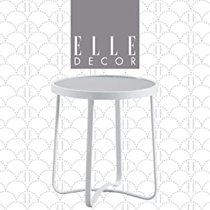 Elle Decor Mirabelle Modern Outdoor Patio Modular Furniture Collection, White or Gold Frame, Side Table