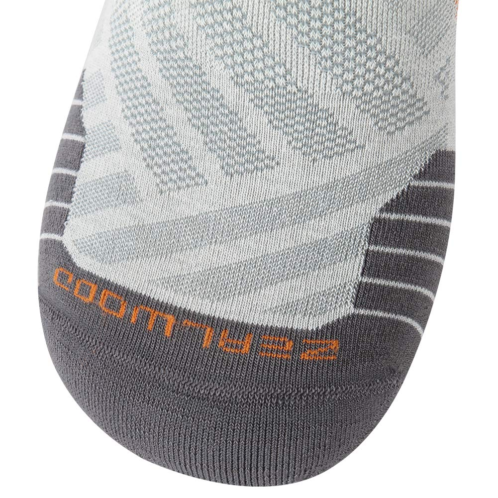 Low Cut Cycling Socks, ZEALWOOD High Performance 3 Pairs Antibacterial Wicking Low Cut Athletic Running Cushion Sports Socks for Men & Women 3 Pairs,Grey by ZEALWOOD (Image #6)
